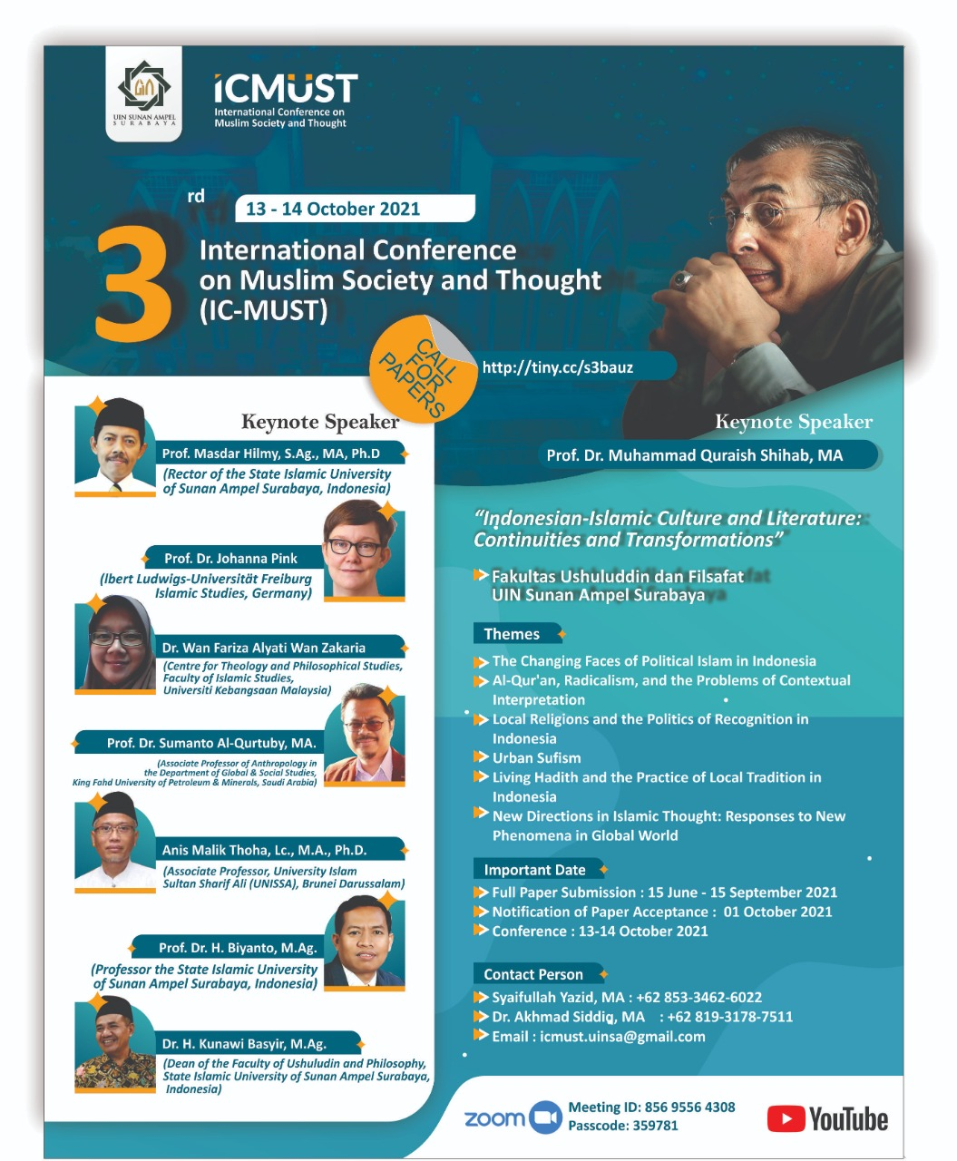The 3rd International Conference on Muslim Society and Thought (IC-MUST)