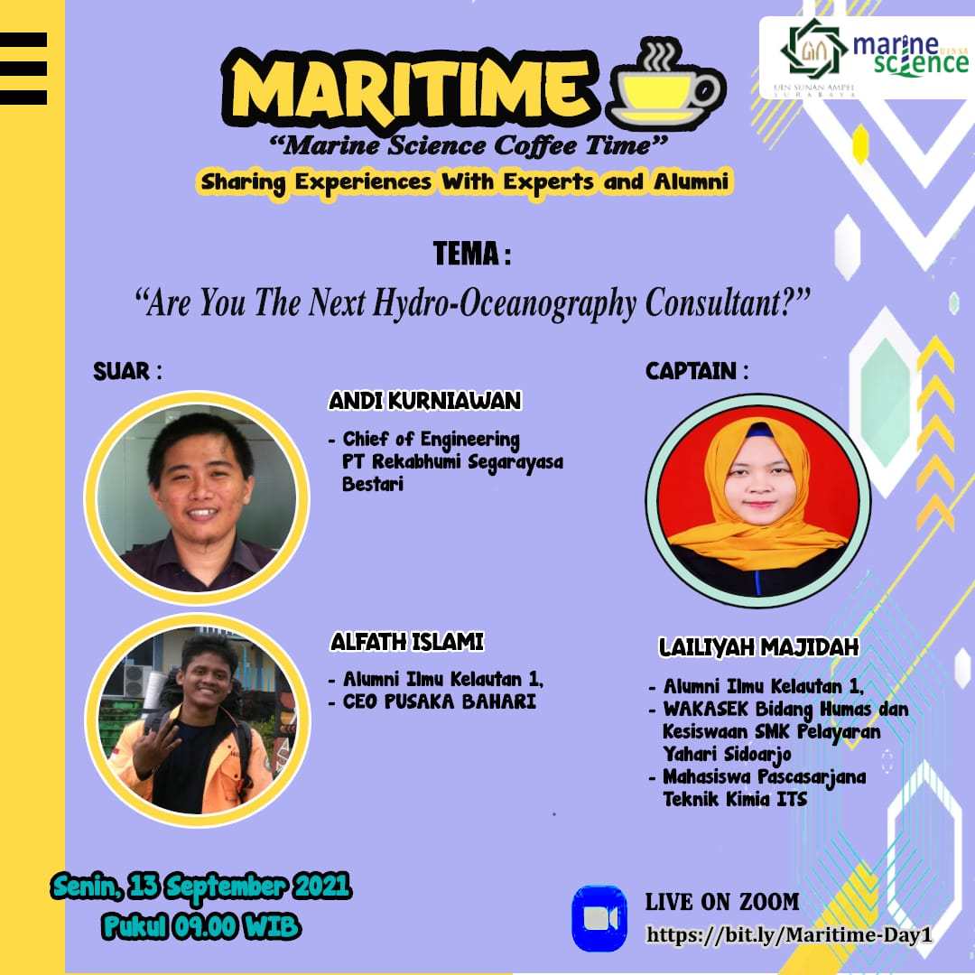Marine Science Coffee Time Sharing Experiences With Experts and Alumni